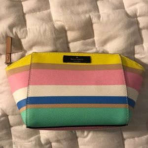 Kate Spade Grove Street Small Stripe Cosmetic Case